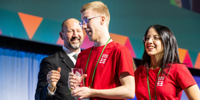 BioBuilders win award in synthetic biology. Photo: DTU