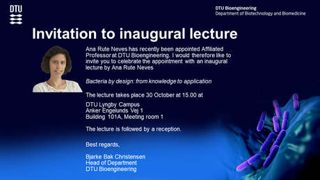 Inaugural lecture Rute Neves